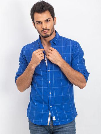 Ciemnoniebieska koszula męska Handsome