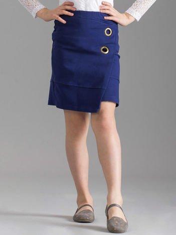 Ciemnoniebieska spódnica dziewczęca ołówkowa