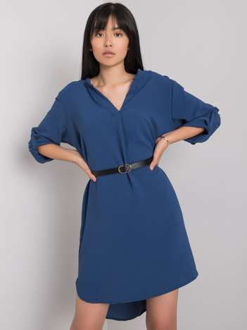 Ciemnoniebieska sukienka Stella