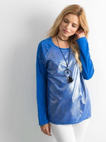 Ciemnoniebieska tunika z błyszczącymi drobinkami