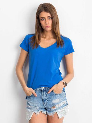 Ciemnoniebieski t-shirt Square
