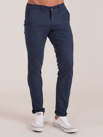 Ciemnoniebieskie spodnie męskie chinosy