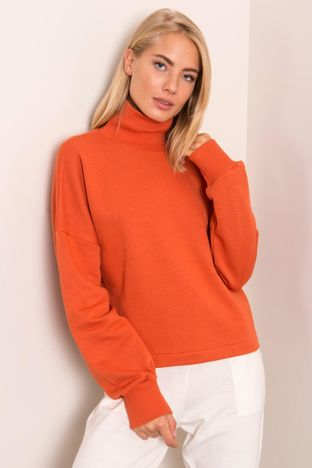 Ciemnopomarańczowa bluza damska BSL