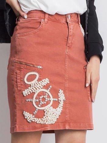 Ciemnopomarańczowa spódnica Wildchild