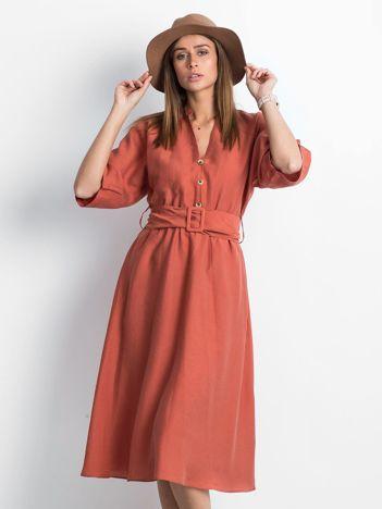 Ciemnopomarańczowa sukienka Effortlessly