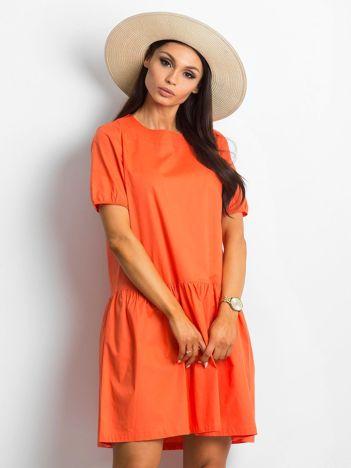 9913389f91 Ciemnopomarańczowa sukienka Style-conscious