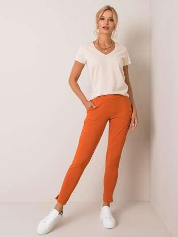 Ciemnopomarańczowe spodnie Nina