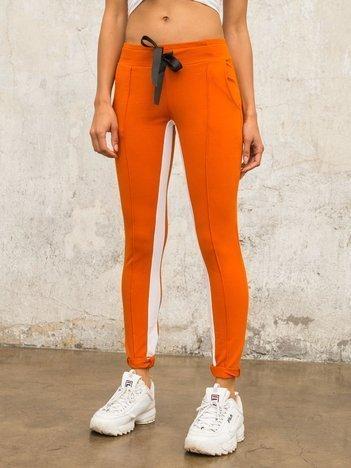 Ciemnopomarańczowe spodnie dresowe Defined