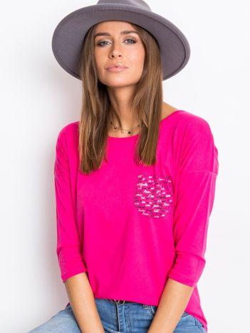 Ciemnoróżowa bluzka Amy