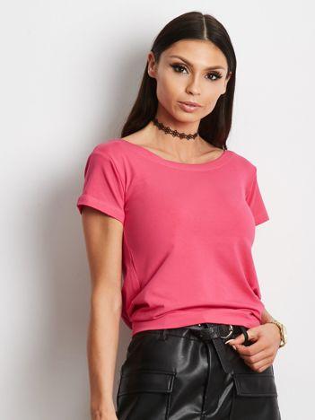 Ciemnoróżowa bluzka z wiązanym tyłem