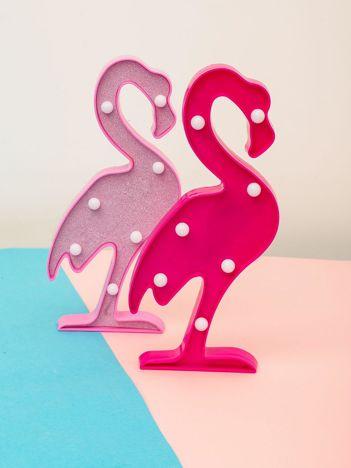 Ciemnoróżowa ozdobna lampka LED w kształcie flaminga
