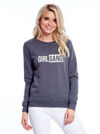 Ciemnoszara bluza GIRL GANG