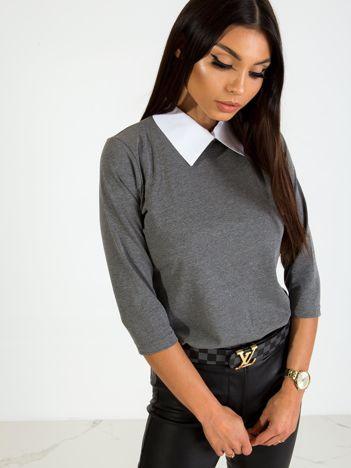 Ciemnoszara bluzka Collar