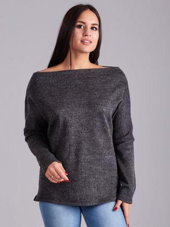 Ciemnoszara bluzka w paski