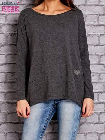 Ciemnoszara bluzka z wiązaniem na plecach