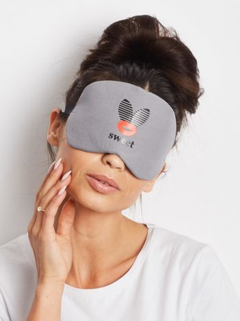 Ciemnoszara maska do spania