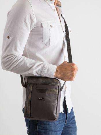 Ciemnoszara męska torba na ramię