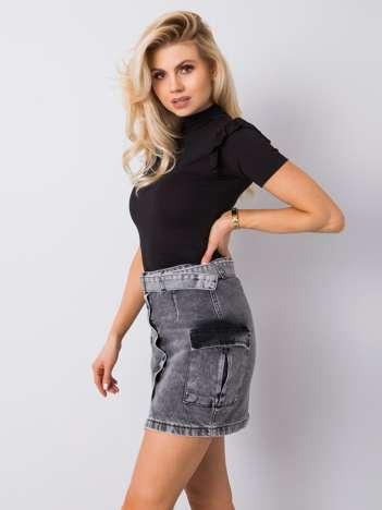Ciemnoszara spódnica jeansowa Shalimar RUE PARIS