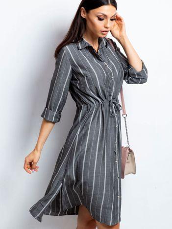 Ciemnoszara sukienka Recall