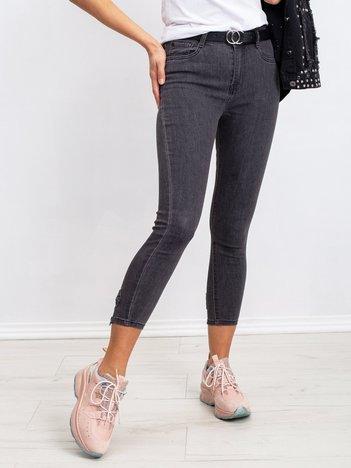 Ciemnoszare jeansy Layla
