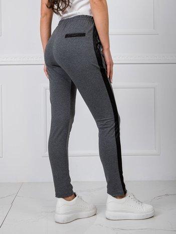 Ciemnoszare spodnie Active