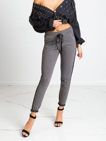 Ciemnoszare spodnie Max