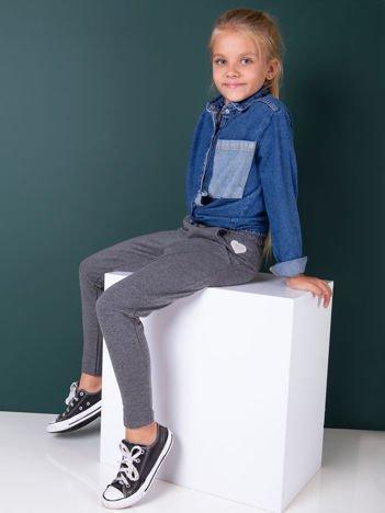 Ciemnoszare spodnie dresowe dla dziewczynki
