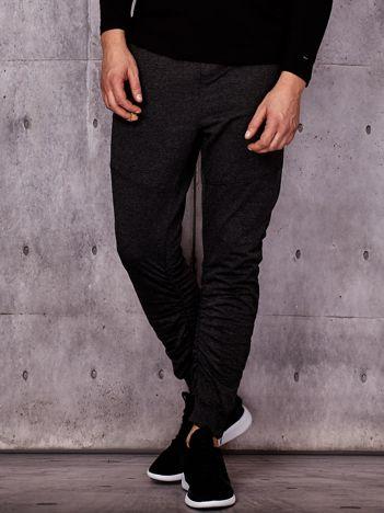 Ciemnoszare spodnie dresowe z troczkami