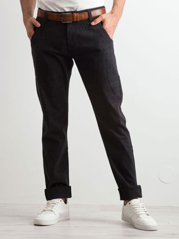 Ciemnoszare spodnie męskie