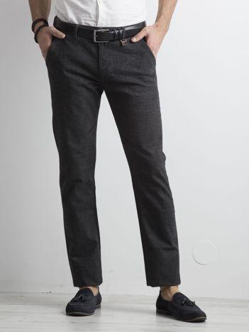 Ciemnoszare spodnie męskie chino