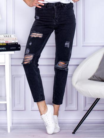 Ciemnoszare spodnie vintage