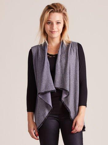 Ciemnoszary melanżowy sweter