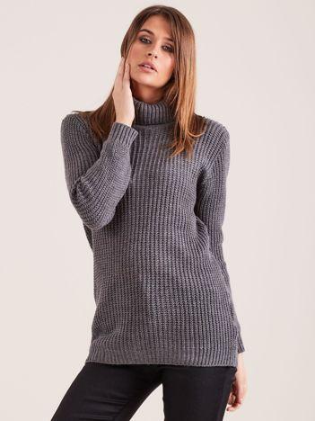 Ciemnoszary sweter golf