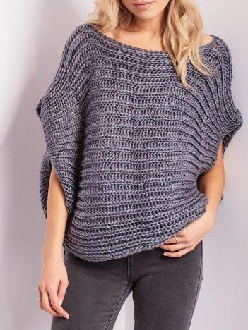 Ciemnoszary sweter kamizelka