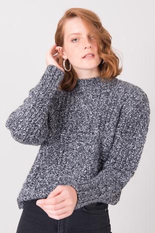 Ciemnoszary sweter z półgolfem BSL