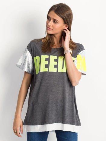 Ciemnoszary t-shirt Freedom
