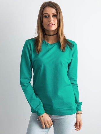 Ciemnozielona bluza damska basic