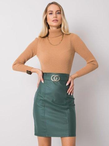 Ciemnozielona spódnica woskowana Ava