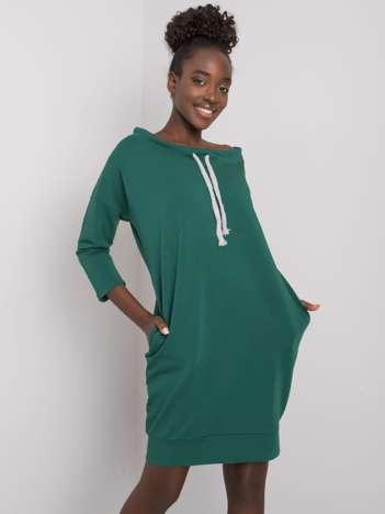 Ciemnozielona sukienka Raphaelle
