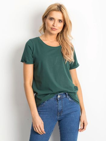 Ciemnozielony t-shirt Transformative