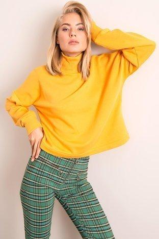 Ciemnożółta bluza damska BSL