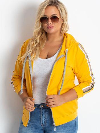Ciemnożółta bluza plus size Apear