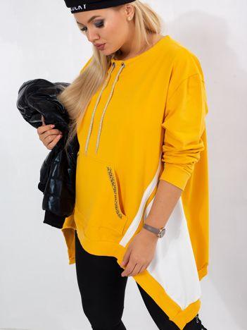 Ciemnożółta bluza plus size Later
