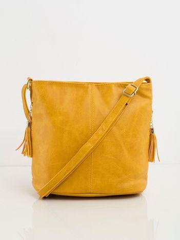 Ciemnożółta torebka faux leather