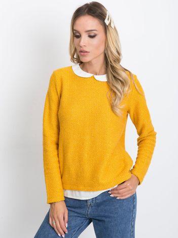Ciemnożółty sweter Prestige
