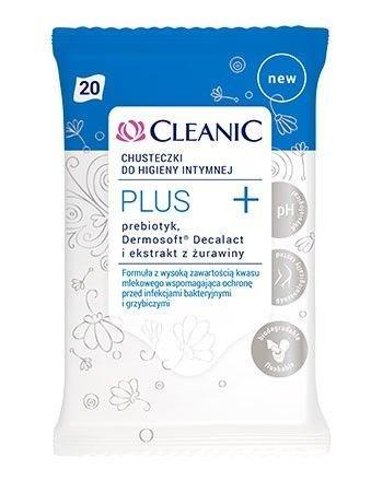 Cleanic Chusteczki do higieny intymnej PLUS  1op.- 20szt.