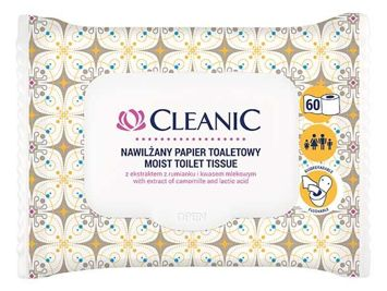 Cleanic Intimate Nawilżany papier toaletowy 1op.- 60 szt