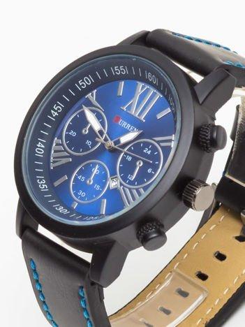 Curren- Nowoczesny i duży męski zegarek z 3 chronografami na tarczy i z datownikem