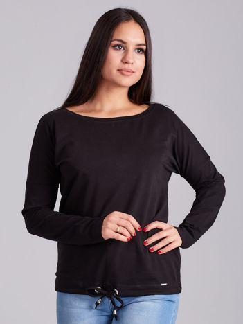 Czarna bawełniana bluzka