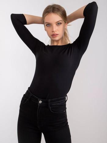 Czarna bawełniana bluzka basic
